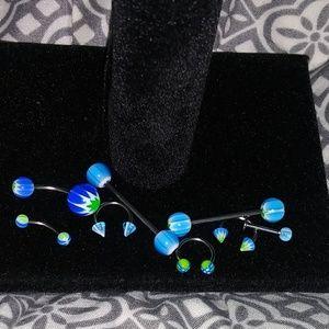 Unisex New body piercing jewelry set